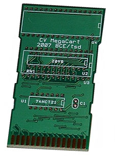 This ColecoVision MegaCart was produced by Eduardo Mello's regulations.