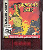 Dragon's Lair Cartridge, Front © ColecoVision.dk