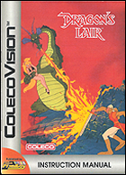 Dragon's Lair Manual, Front © ColecoVision.dk