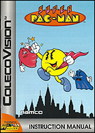 Super Pac-Man Manual, Front © ColecoVision.dk